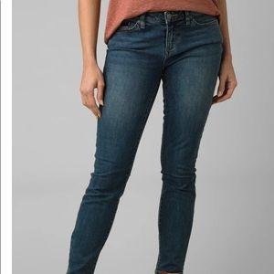 PrAna London Skinny Jean Medium Wash Sz 6 Short
